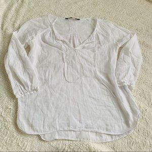 White Zara Basics Top size Small EUC